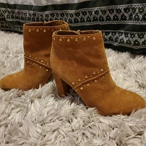 Sam Edelman Ankle Suede Studded Boots